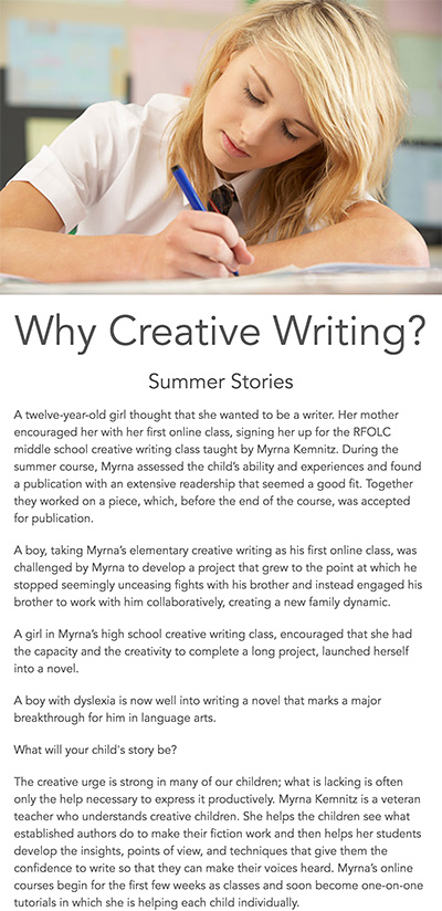 Why study creative writing?